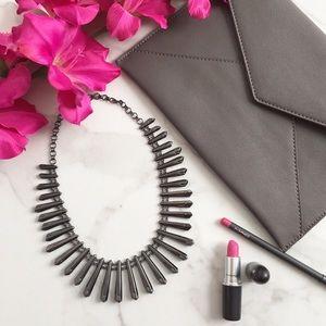 Kendra Scott Jill statement necklace in gunmetal